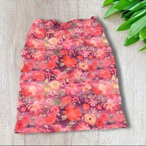 LULAROE Floral Cassie Skirt NWOT